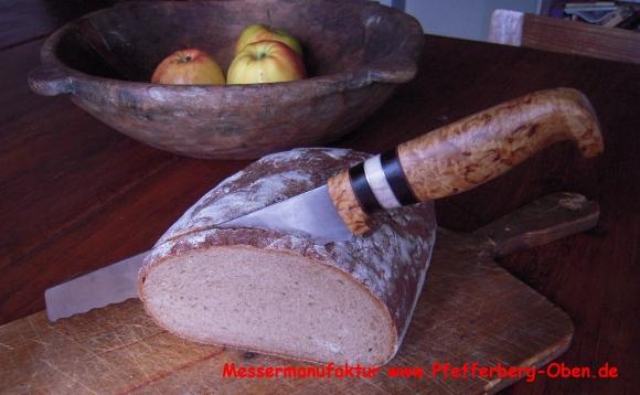 Kuchenmesser In Handarbeit Pfefferberg Oben Hand Gemachte Messer